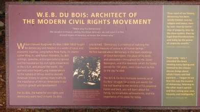 Information at W.E.B. Du Bois' boyhood homesite.