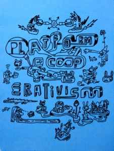 Artwork for Platform Cooperativism a movement developed by Trebor Scholz with events at The New School and Goethe-Institut, New York